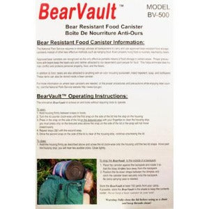 Bear Vault Food Canister - Large