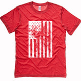 American Flag distressed t-shirt | USA tee - RED