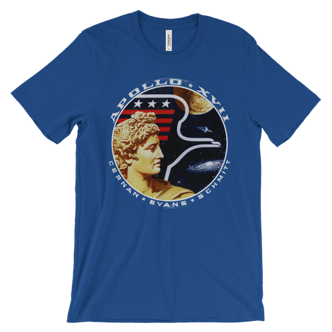 NASA t-shirt | Apollo 17 graphic tee - BLUE