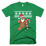 Gingerbread Man Christmas sweater t-shirt - GREEN