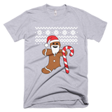 Gingerbread Man Christmas sweater t-shirt - GREY
