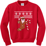 Gingerbread Man Christmas sweater t-shirt
