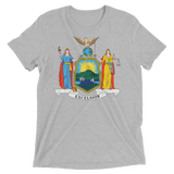 New York flag t-shirt | Coat of Arms of New York tee - GREY
