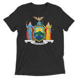 New York flag t-shirt | Coat of Arms of New York tee - BLACK