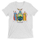 New York flag t-shirt | Coat of Arms of New York tee - WHITE
