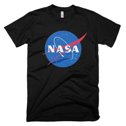 NASA insignia t-shirt | meatball logo - BLACK