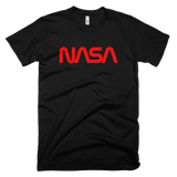 NASA worm logo t-shirt - BLACK