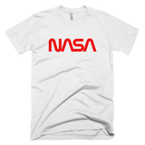 NASA worm logo t-shirt - WHITE