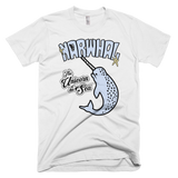 Narwhal t-shirt | The Unicorn of the Sea tee - WHITE