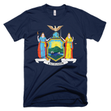 New York flag t-shirt | Coat of Arms of New York tee - NAVY