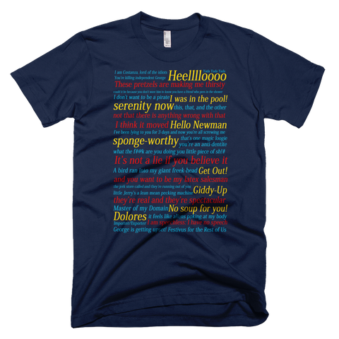 Seinfeld Quotes and References t-shirt - NAVY