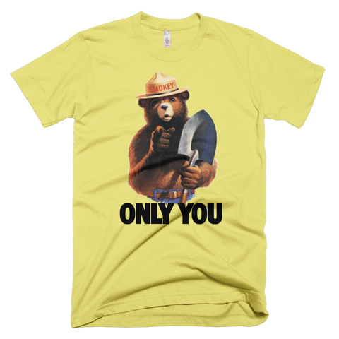 Smokey Bear t-shirt | ONLY YOU tee - LEMON