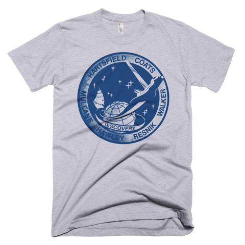 Vintage NASA Discovery t-shirt | STS 41 d patch tee - GREY