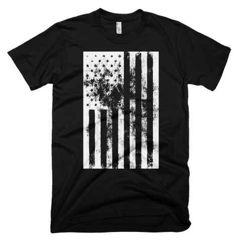 American Flag distressed t-shirt | USA tee - BLACK