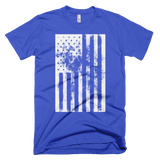 American Flag distressed t-shirt | USA tee - BLUE