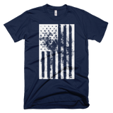American Flag distressed t-shirt | USA tee - NAVY