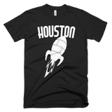 Houston t-shirt | Vintage Style Rocket tee - BLACK