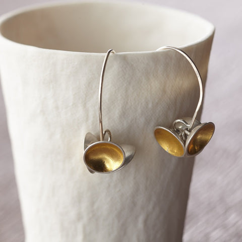 silver and 24k gold keum boo earrings at Joanne Tinley Jewellery