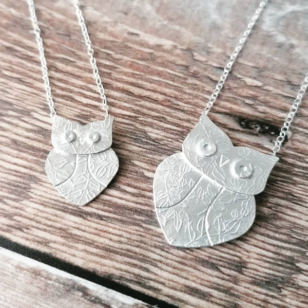 wise owl pendants | Joanne Tinley Jewellery