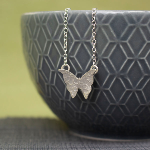 Beautiful silver butterfly pendant by Joanne Tinley Jewellery