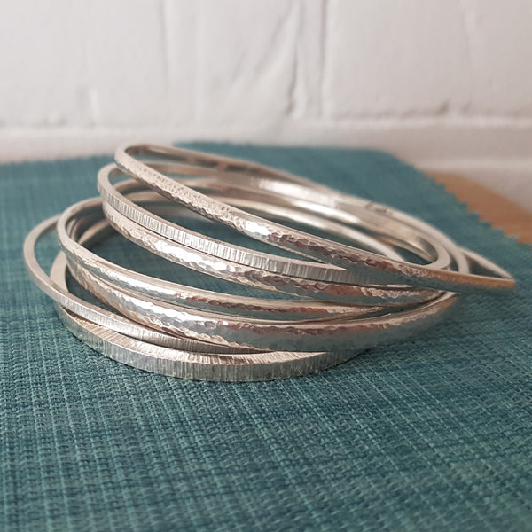 learn jewellery making at Joanne Tinley Jewellery_ silver bangle