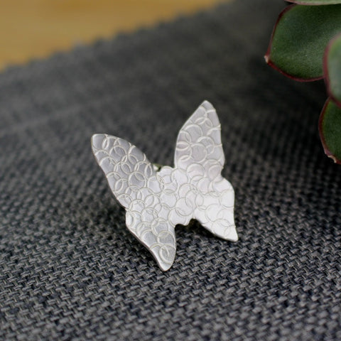 Silver Butterfly Brooch Pin
