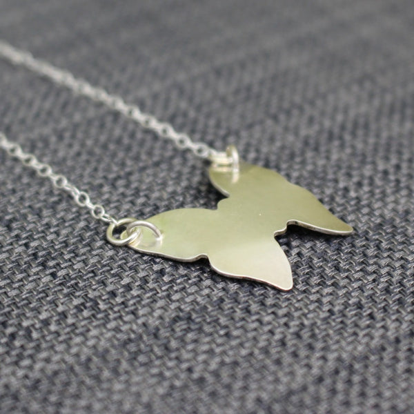 sterling silver butterfly necklace at Joanne Tinley Jewellery