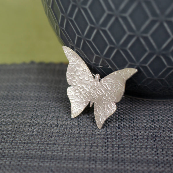 sterling silver butterfly brooch by Joanne Tinley Jewellery