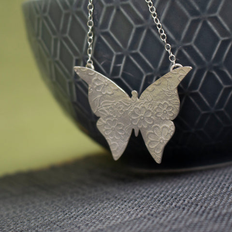 sterling silver butterfly necklace by Joanne Tinley Jewellery