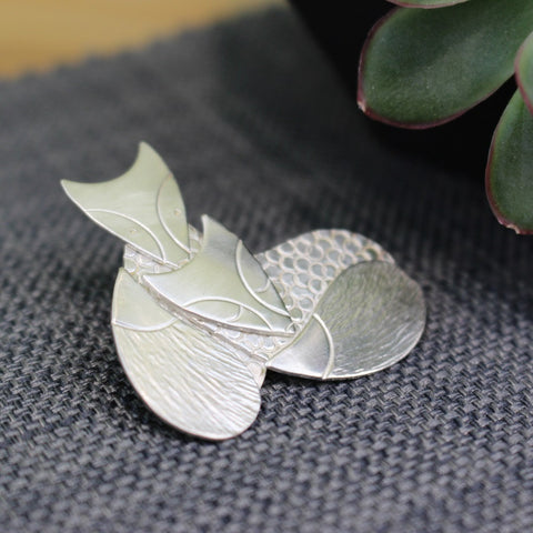 Sterling Silver Fox Brooch at Joanne Tinley Jewellery