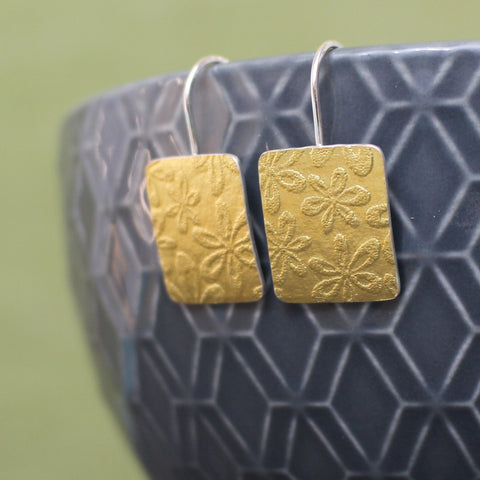 24k & silver drop earrings from Joanne Tinley Jewellery
