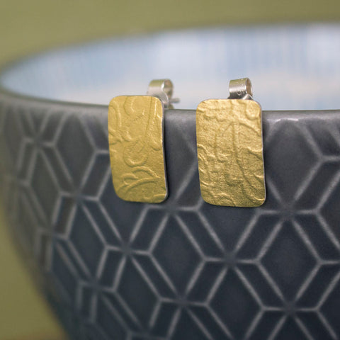 silver gold keum boo oak earring at Joanne Tinley Jewellery