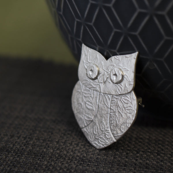 wise owl brooch | Joanne Tinley Jewellery