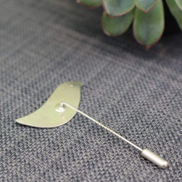 sterling silver lovebird stick pin brooch at Joanne Tinley Jewellery