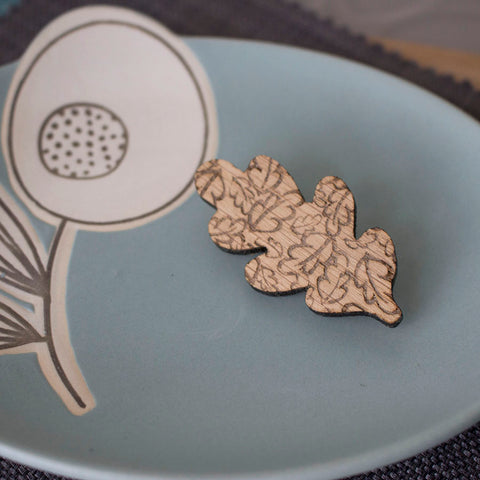 oak leaf brooch by Joanne Tinley Jewellery