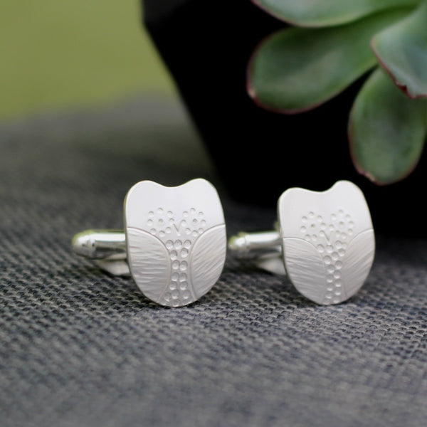 Sterling Silver Owl Cufflinks at Joanne Tinley Jewellery