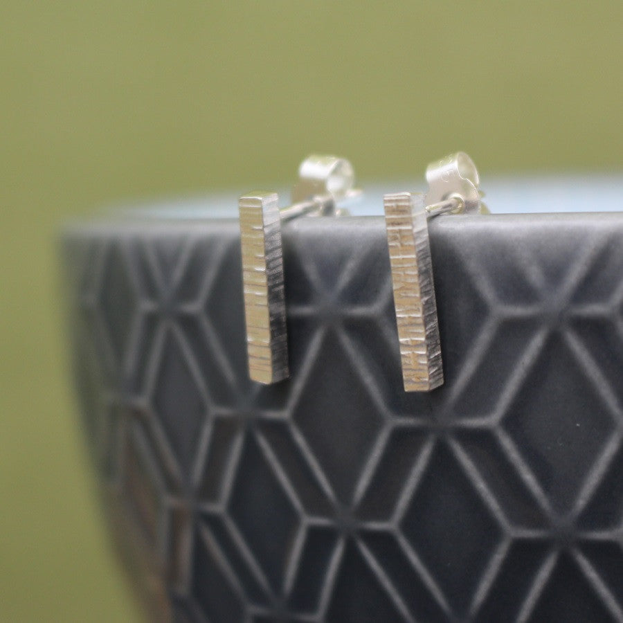 sterling silver stud earrings at Joanne Tinley Jewellery