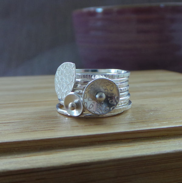 learn how to make stacking rings at the Jewellery Summer School with Joanne Tinley Jewellery