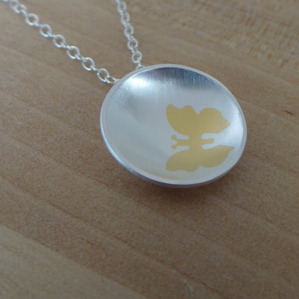silver and 24k gold keum boo pendant from Joanne Tinley Jewellery