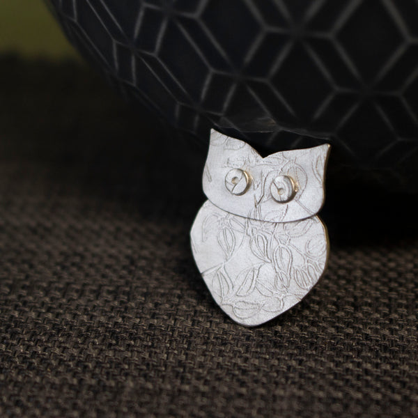 Watercolour Small Owl Pin