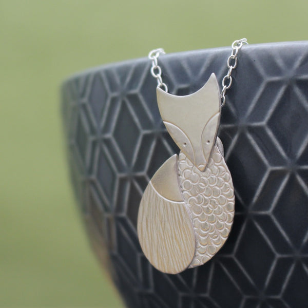 Sterling Silver Fox Pendant at Joanne Tinley Jewellery