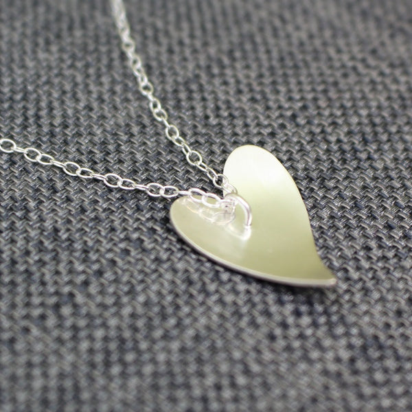 sterling silver flower heart pendant at Joanne Tinley Jewellery