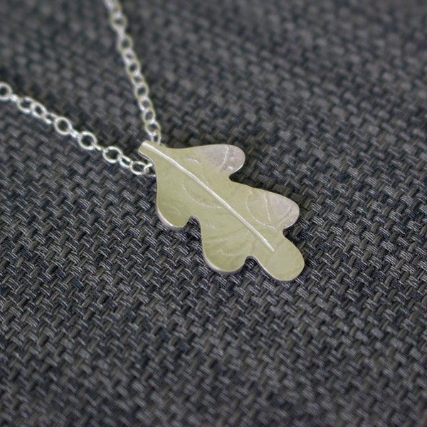 silver oak pendant necklace from Joanne Tinley Jewellery