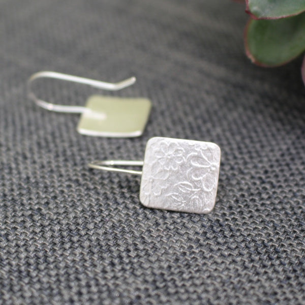 sterling silver flower earrings at Joanne Tinley Jewellery