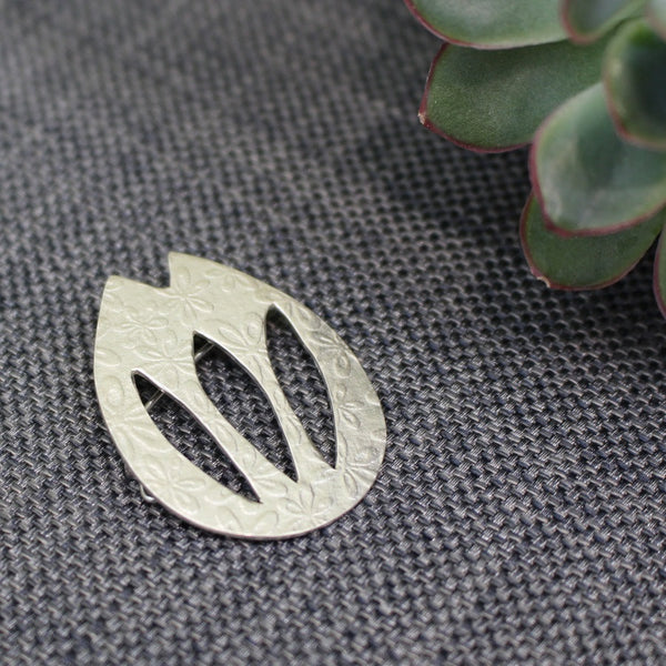 sterling silver tulip brooch at Joanne Tinley Jewellery