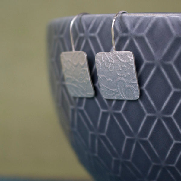 sterling silver oak earrings at Joanne Tinley Jewellery