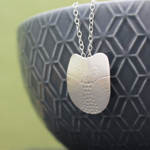 Sterling Silver Owl Pendant at Joanne Tinley Jewellery