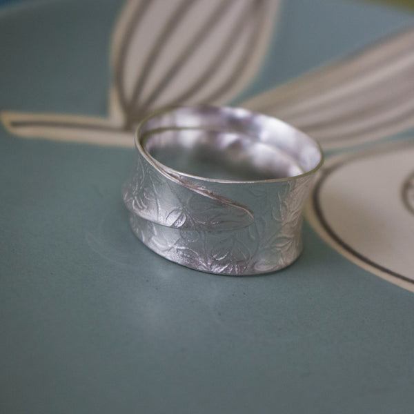 sterling silver wide wrapped ring | Joanne Tinley Jewellery
