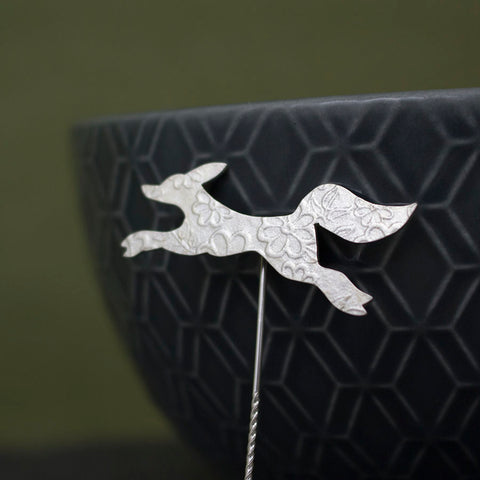 silver fox brooch pin from Joanne Tinley Jewellery
