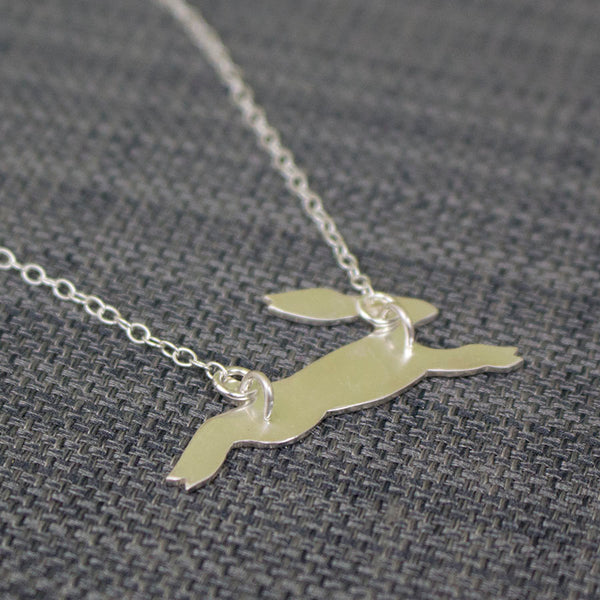 silver hare necklace from Joanne Tinley Jewellery